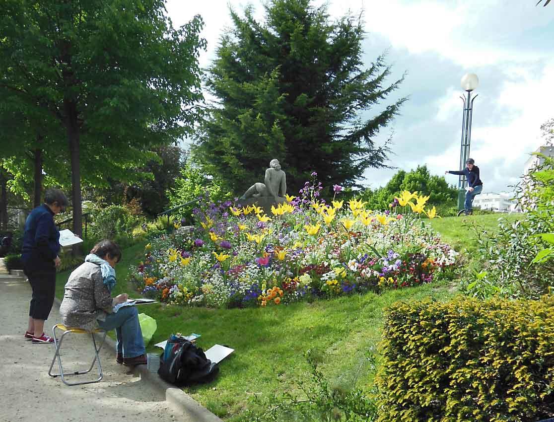 Peindre des fleurs des parcs et des jardins stage - Parcs et jardins de paris ...