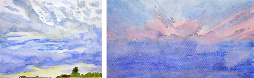 Stage ciel aquarelle 4-atelier 2-4 Paris