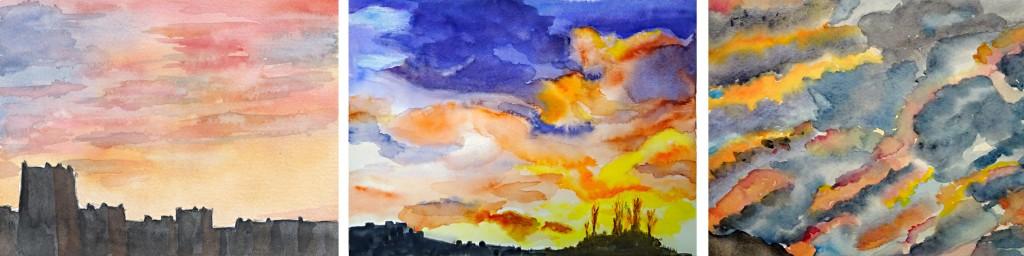 Stage ciel aquarelle 7-atelier 2-4 Paris
