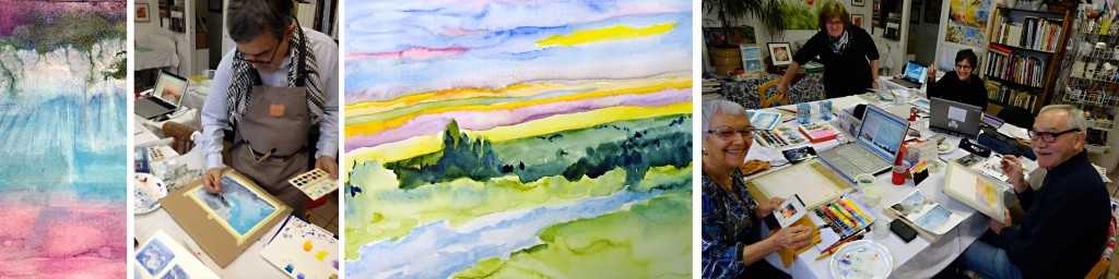 Stage ciel aquarelle 8-atelier 2-4 Paris