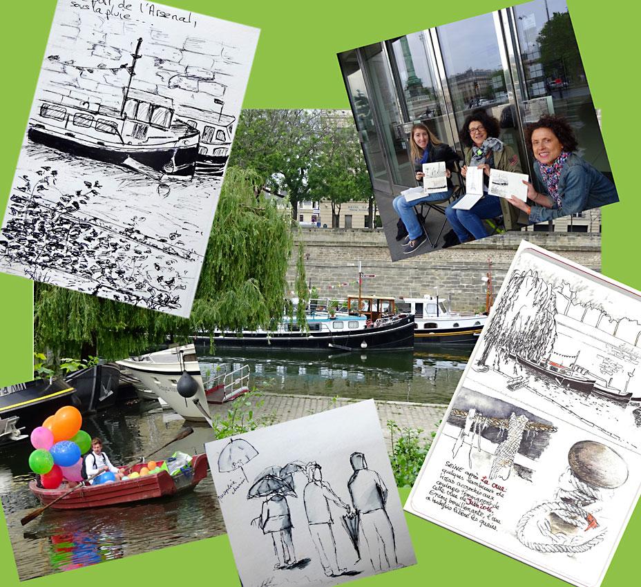 stage carnet de voyage Paris