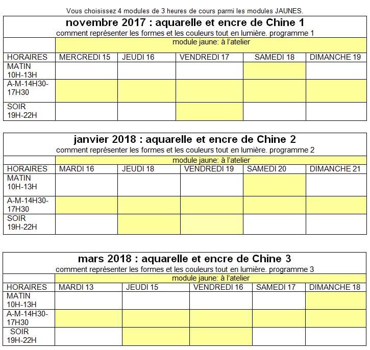 planning-AQUARELLE-2017-2018