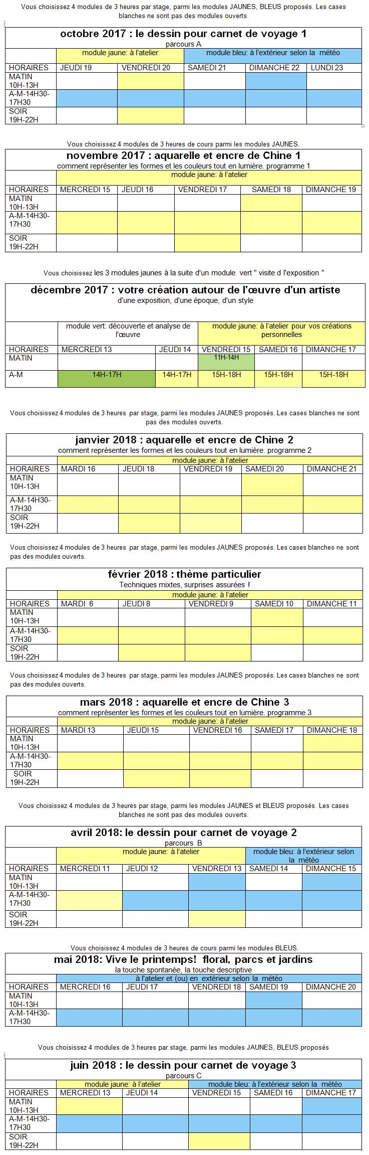 planning-complet-2017-2018-maj-31aout-stages atelier 2-4 Paris