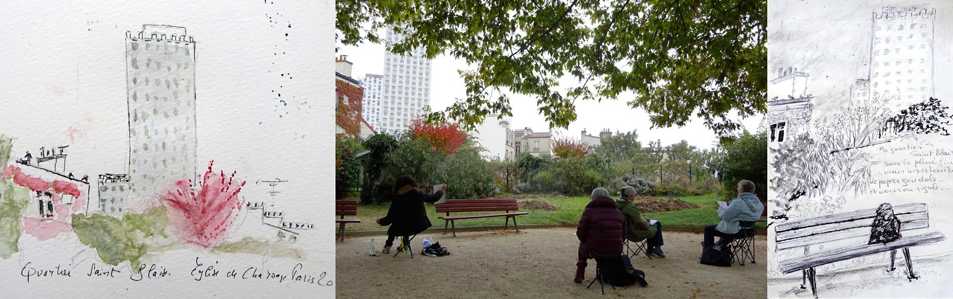 stage carnet de voyage Atelier 2/4 Paris