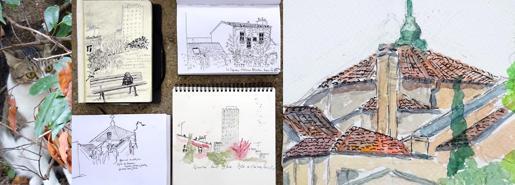 stages carnet de voyage Atelier 2/4 Paris