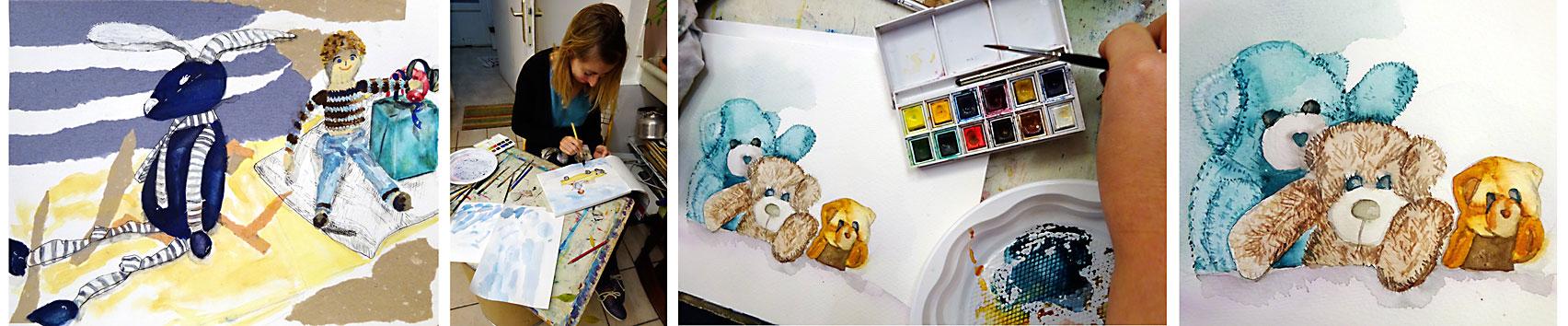 stage encre de Chine et aquarelle atelier 2-4 Paris