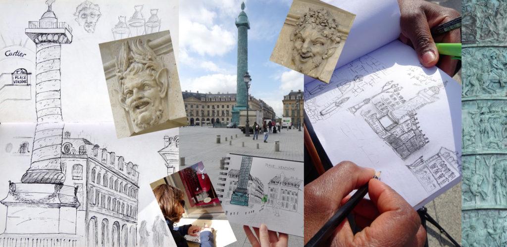 dessin pour carnet de voyage
