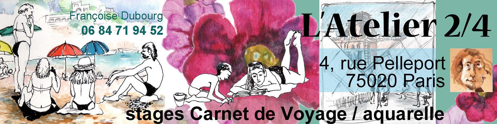 Stages progressifs de dessin et peinture de l'Atelier 2/4 à Paris