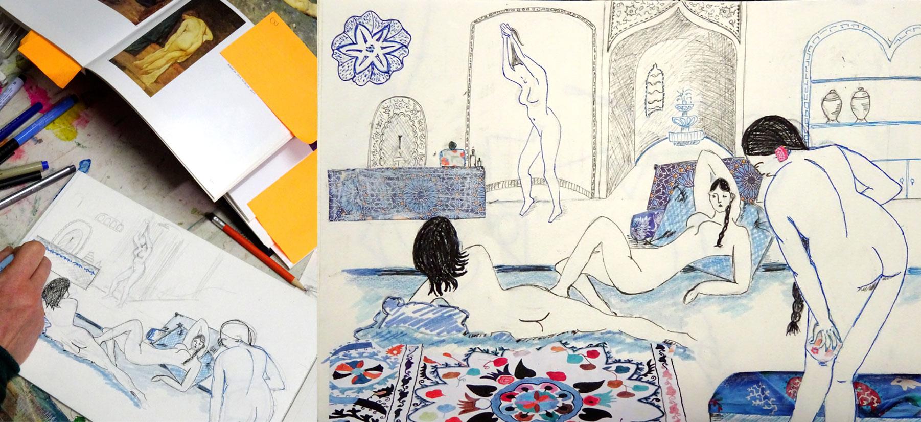 stage dessin peinture Francoise Dubourg Paris