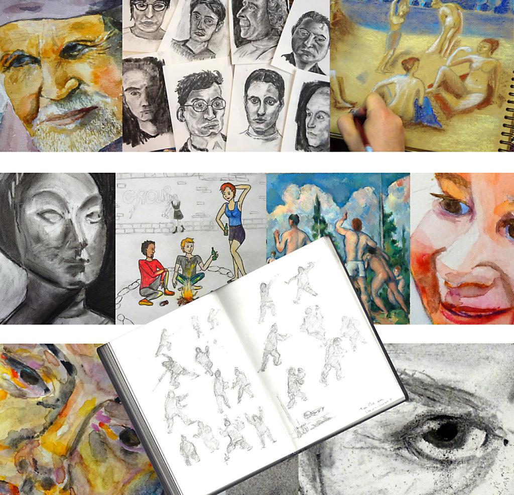 l' Atelier 2-4 cours de dessin et peinture Francoise Dubourg