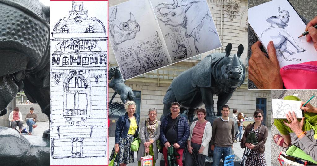atelier 2-4 Francoise Dubourg stage carnet de voyage Paris 20e