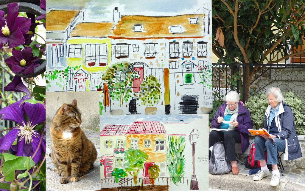 carnetiste de l' Atelier 2-4 Paris 20e avec Françoise Dubourg