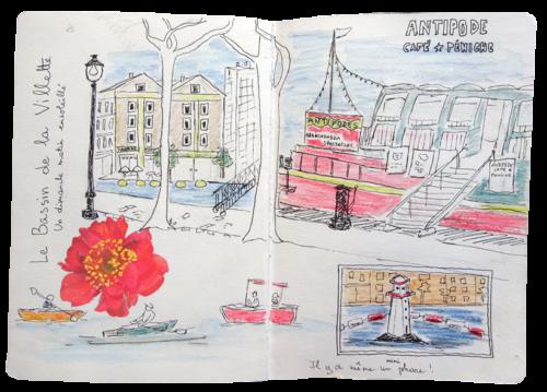 stage carnet de voyage Paris atelier 2-4 Francoise Dubourg