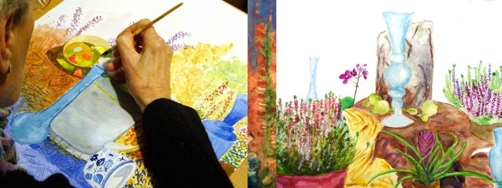 stage aquarelle et encre de Chine Francoise Dubourg Paris