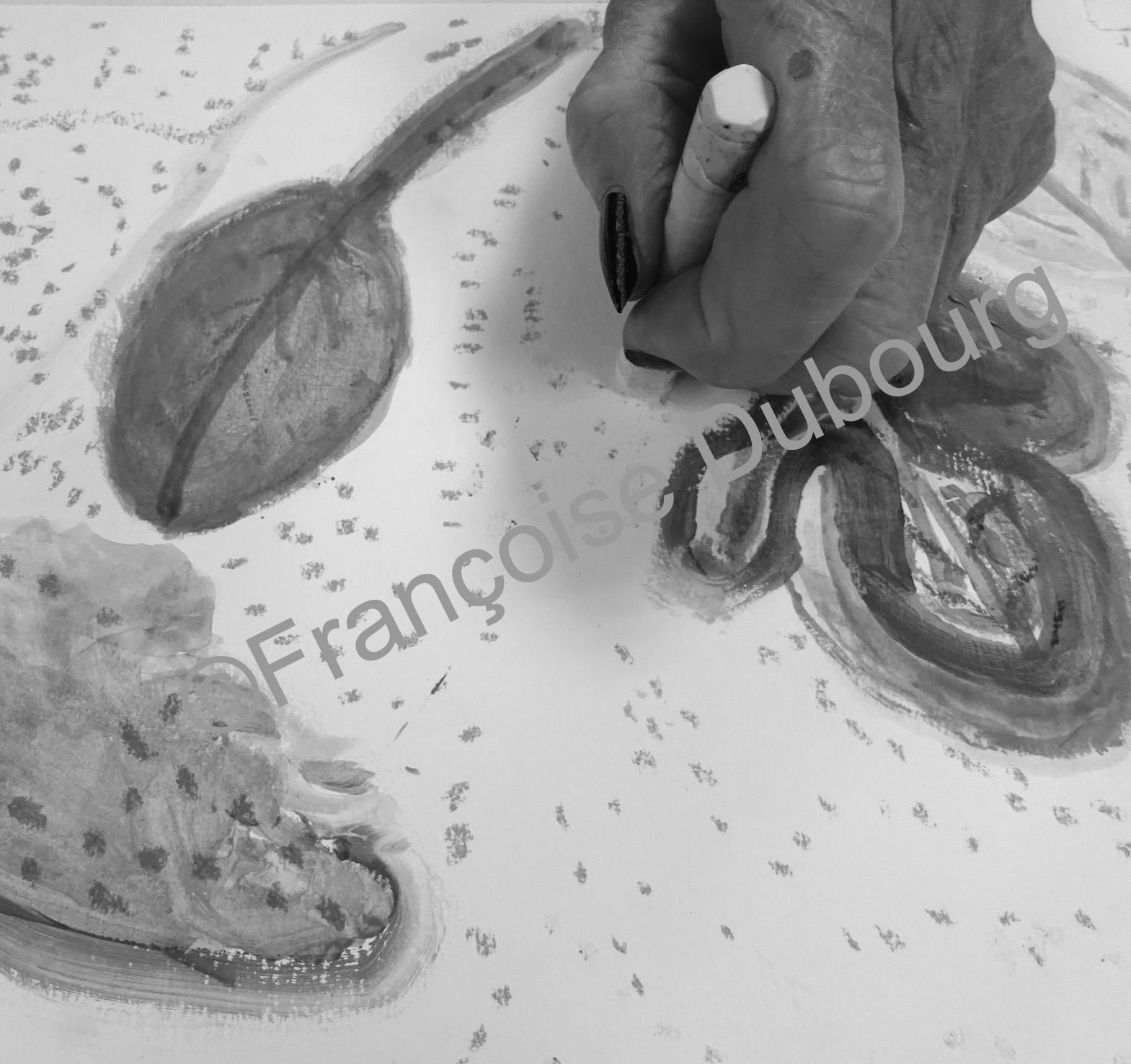 Création plastique en EHPAD avec Françoise Dubourg