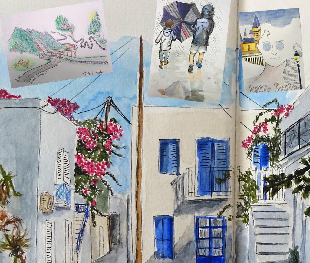 Aquarelle et carnet de voyage Stage Francoise Dubourg Paris 20e